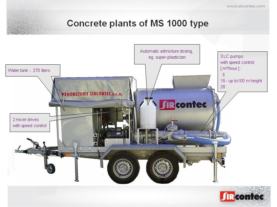 Cellular Concrete Systems : Light weight concrete plants ms sircontec